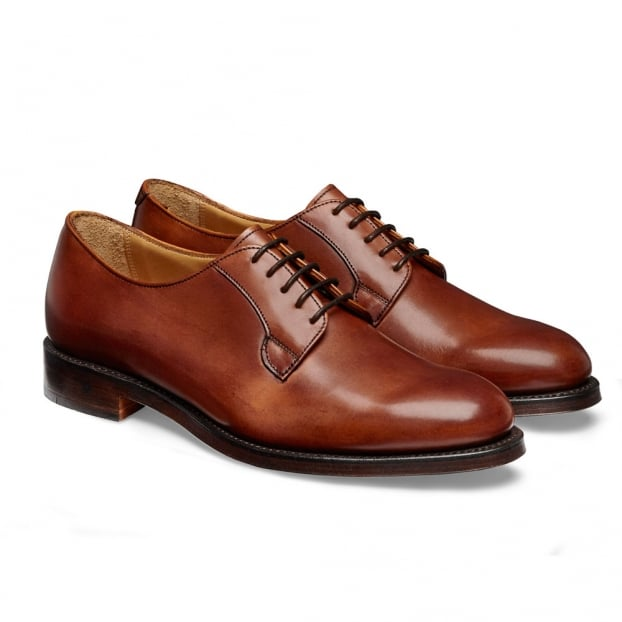 Cheaney Mabel Ladies Derby in Dark Leaf Calf Leather