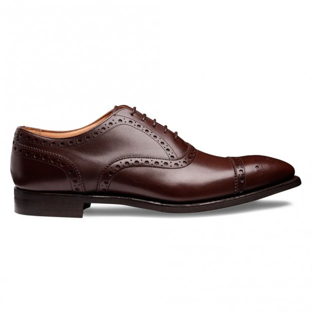 Cheaney Maidstone D Oxford Brogue in Brown Calf Leather