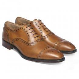 Maidstone Oxford Brogue in Original Chestnut Calf Leather