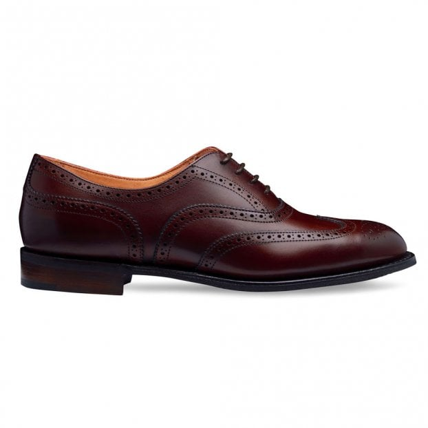 Cheaney Maisie D Wingcap Oxford Brogue in Burgundy Calf Leather