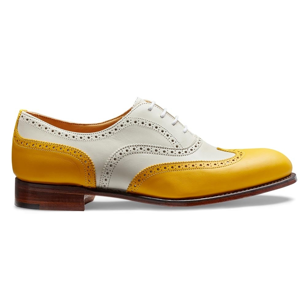 ce35ffa5bbfcb Maisie II Women  039 s Wingcap Oxford Brogue in Yellow Ivory Calf Leather