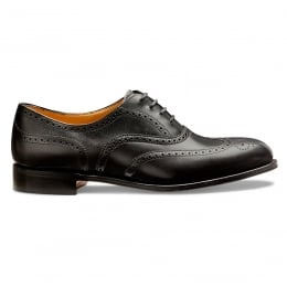 Maisie Ladies Wingcap Oxford Brogue in Black Calf Leather