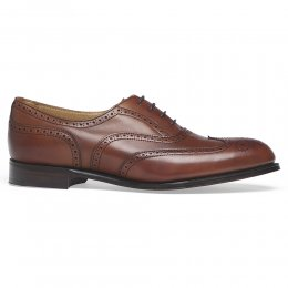 Maisie Ladies Wingcap Oxford Brogue in Dark Leaf Calf Leather