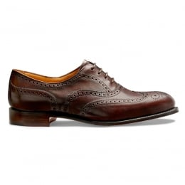 Maisie Ladies Wingcap Oxford Brogue in Mocha Calf Leather