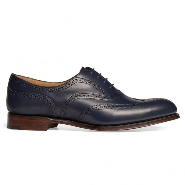 Cheaney Maisie Ladies Wingcap Oxford Brogue in Navy Calf Leather