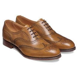 Maisie Ladies Wingcap Oxford Brogue in Original Chestnut Calf Leather (Red Toe Backer)