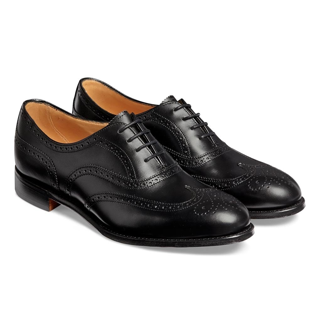 596f482709916 Maisie Wingcap Oxford Brogue in Black Calf Leather