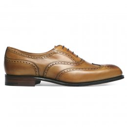 Maisie Wingcap Oxford Brogue in Chestnut Calf Leather