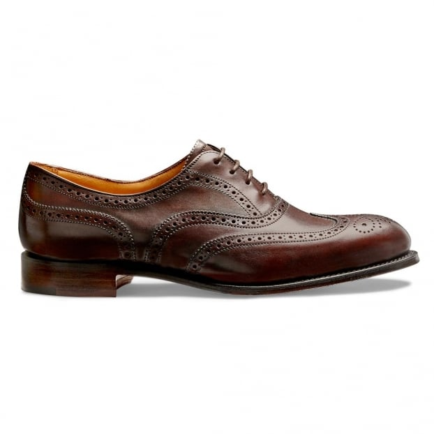 Cheaney Maisie Wingcap Oxford Brogue in Mocha Calf Leather