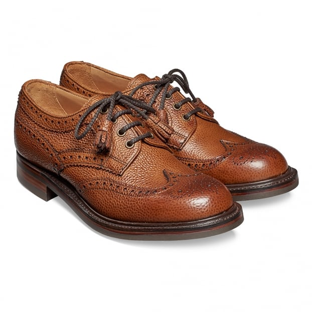 Cheaney Marianne Ladies Tassel Derby Brogue in Almond Grain Leather