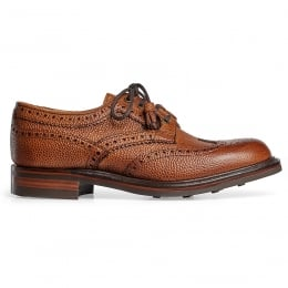 Marianne Ladies Tassel Derby Brogue in Almond Grain Leather