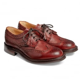 Marianne Ladies Tassel Derby Brogue in Burgundy Grain Leather