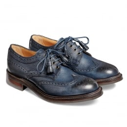 Marianne Ladies Tassel Derby Brogue in Navy Grain Leather