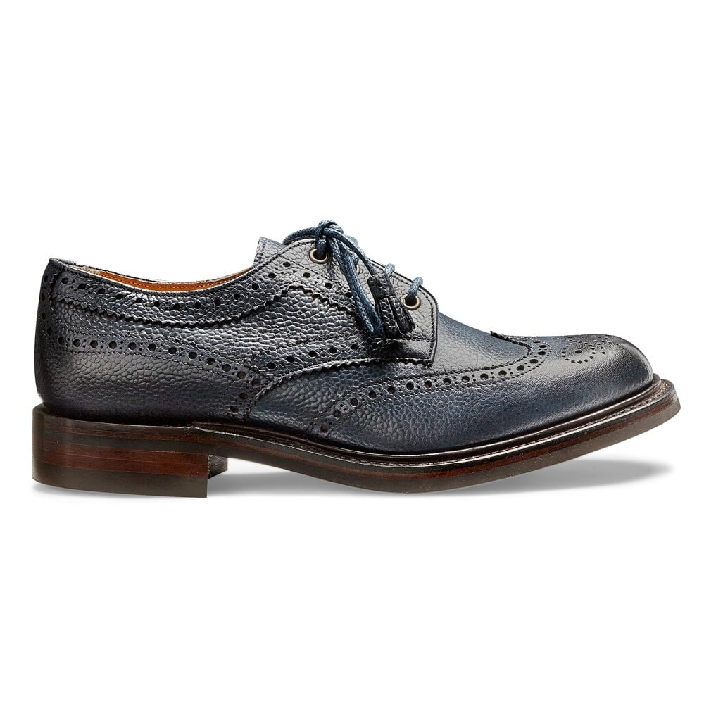 Cheaney Marianne Ladies Navy Leather Derby Brogue Made