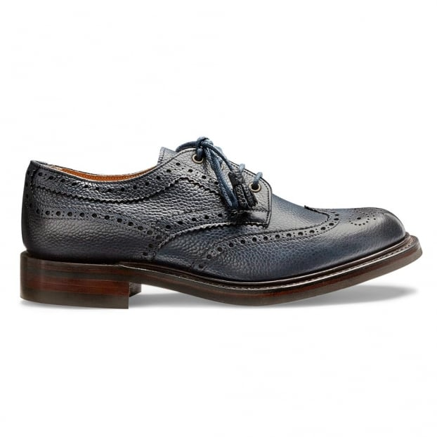 Cheaney Marianne Ladies Tassel Derby Brogue in Navy Grain Leather