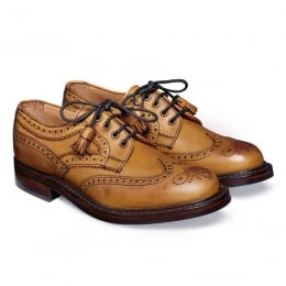 Marianne Ladies Tassel Derby Brogue in Original Chestnut Leather