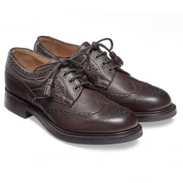 Marianne Ladies Tassel Derby Brogue in Walnut Grain