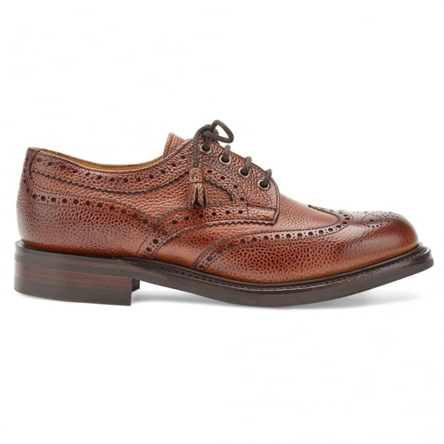 Cheaney Marianne Tassel Derby Brogue in Mahogany Grain Leather