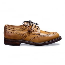 Marianne Tassel Derby Brogue in Original Chestnut Leather