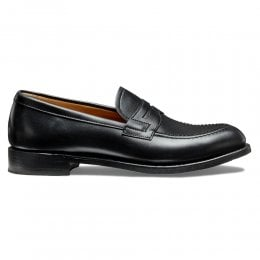 Martha D Loafer in Black Calf Leather