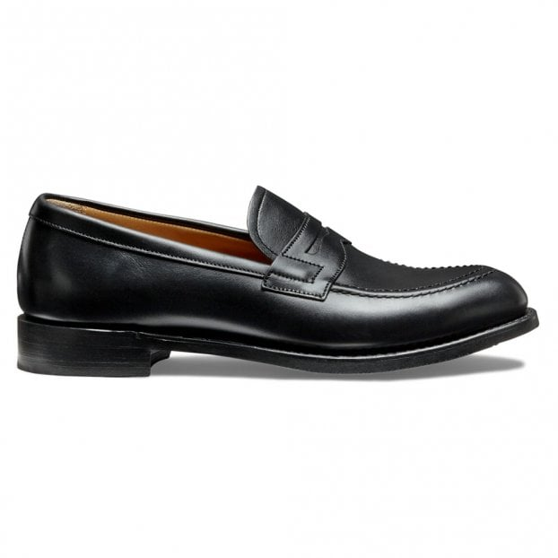 Cheaney Martha Loafer in Black Calf Leather