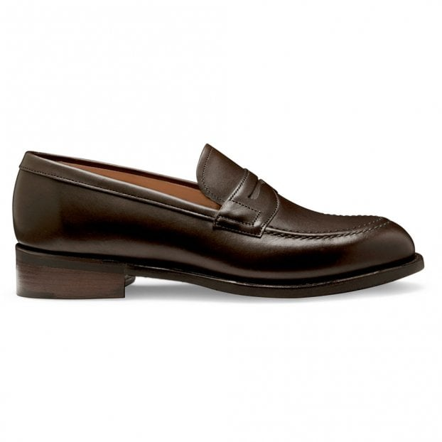 Cheaney Martha Loafer in Mocha Calf Leather