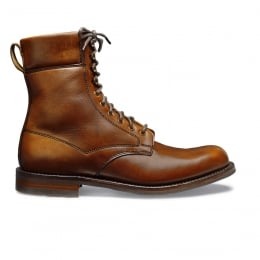 Masham R Country Derby Boot in English Tan Chromexcel Leather