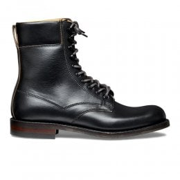 Masham R Derby Boot in Black Chromexcel Leather