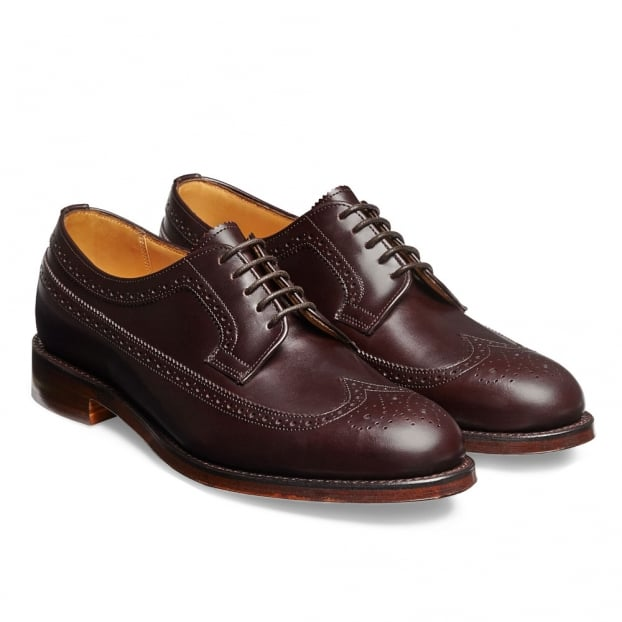 Cheaney Maude Ladies Brogue in Burgundy Coaching Calf Leather