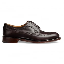 Maude Ladies Brogue in Burgundy Coaching Calf Leather