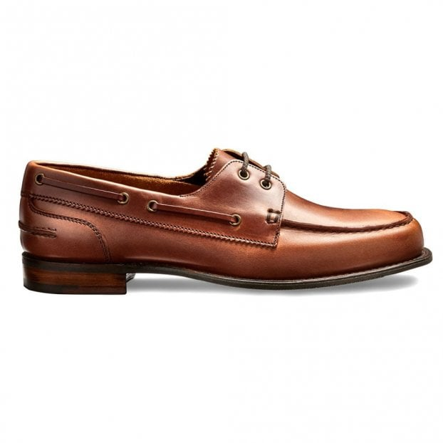 Cheaney Maverick D Boat Shoe in Ginger Pull Up Leather
