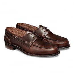 Maverick D Nautically Inspired Shoe in Brown Pull Up Leather