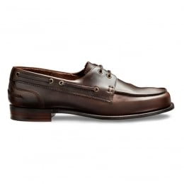 Maverick D Boat Shoe in Brown Pull Up Leather
