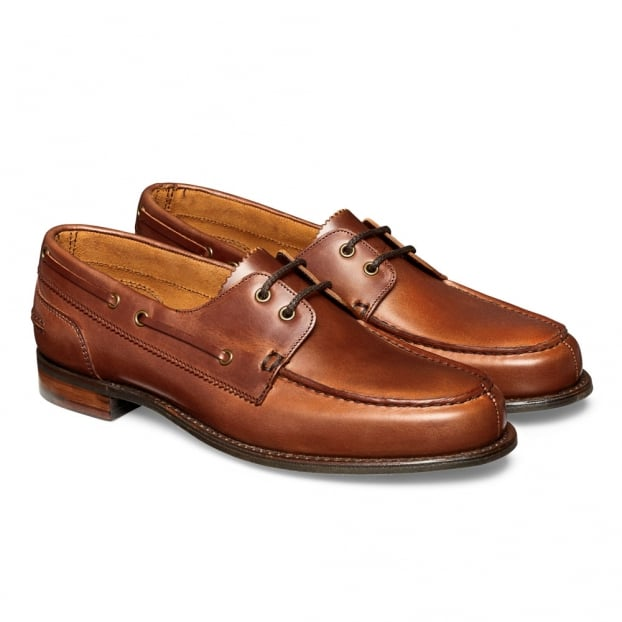 Cheaney Maverick D Nautically Inspired Shoe in English Tan Chromexcel Leather