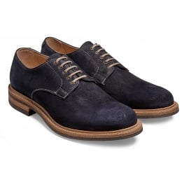 Medway Derby in Navy Split Coupe Leather