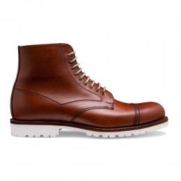 Milburn Derby Boot in English Tan Chromexcel Leather