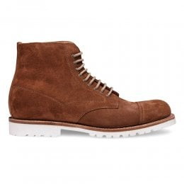 Milburn Derby Boot in Fox Suede
