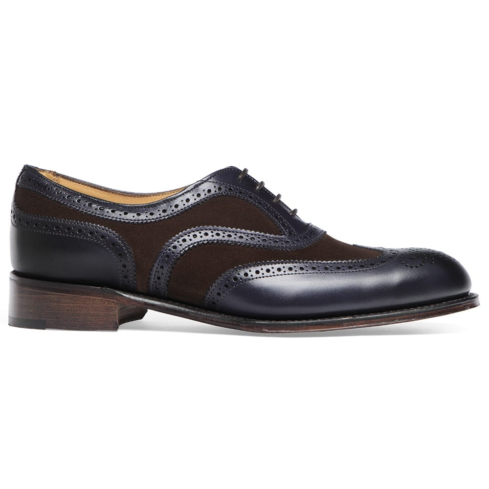 d41da0f82606 Cheaney Milly Ladies Oxford Brogue in Burnished Navy Plough Suede ...