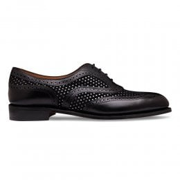Milly Oxford Brogue in Black Calf Leather/Bora Punto Suede