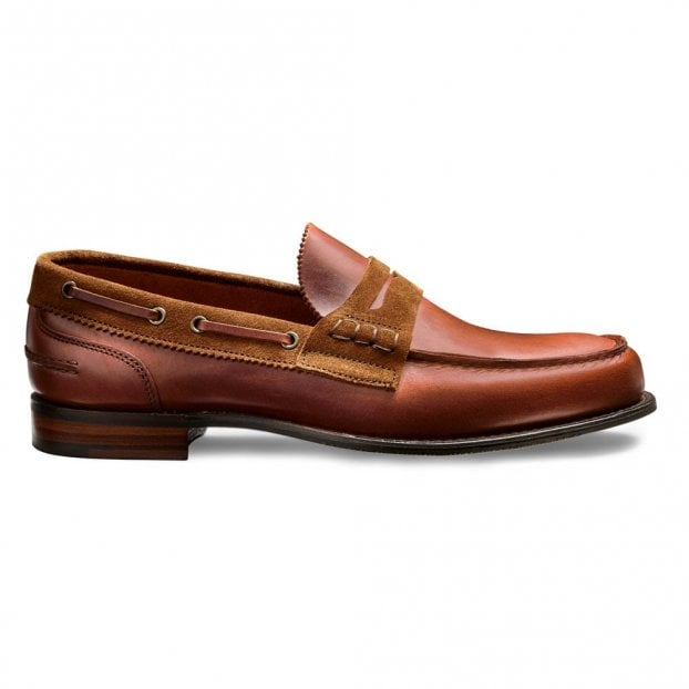 Cheaney Mirage D Loafer in Ginger Pull Up Leather/Sandal Suede