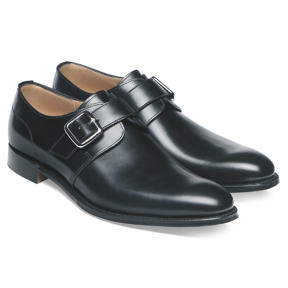 Cheaney Moorgate | Men's Black Leather Monk Shoe ...
