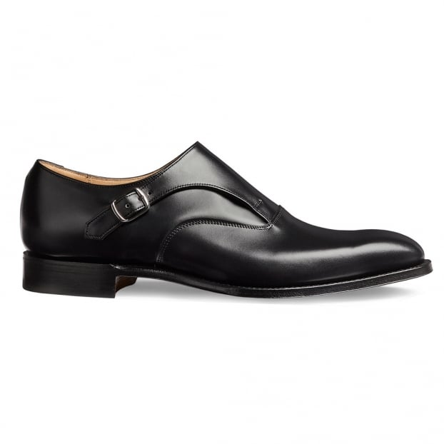 Cheaney Moulton Long Strap Monk in Black Calf Leather