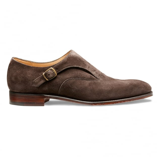Cheaney Moulton Long Strap Monk in Brown Soft Suede
