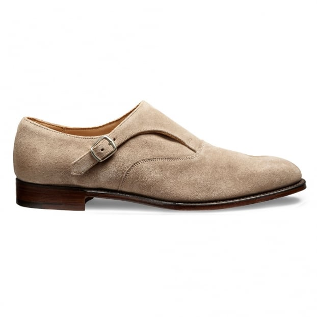 Cheaney Moulton Monk Shoe in Mink Suede