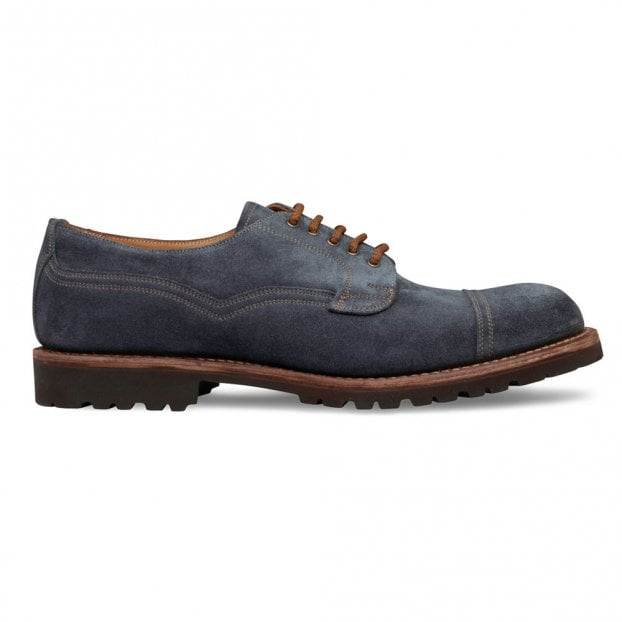 Cheaney Murton Derby in Blue Waxy Suede