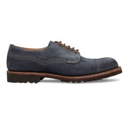 Murton Derby in Blue Waxy Suede