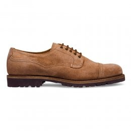 Murton Derby in Tan Waxy Suede
