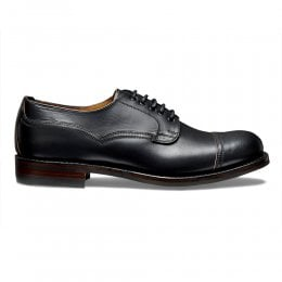 Murton R Derby in Black Chromexcel Leather