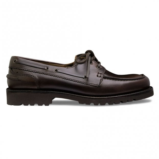Cheaney Newlyn Boat Shoe in Brown Calf Leather