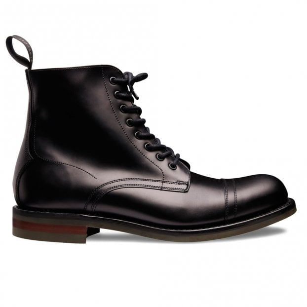 Cheaney Nickelby II R Derby Boot in Black Coaching Calf Leather
